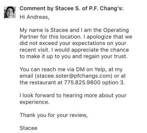 Yelp Review Response