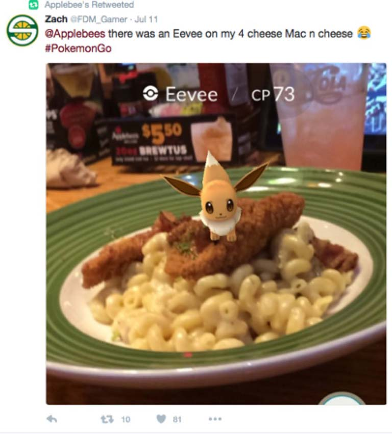 AppleBees Pokemon Tweet
