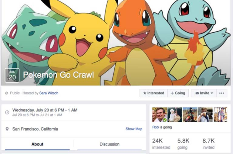 Pokemon Go Crawl Facebook Event