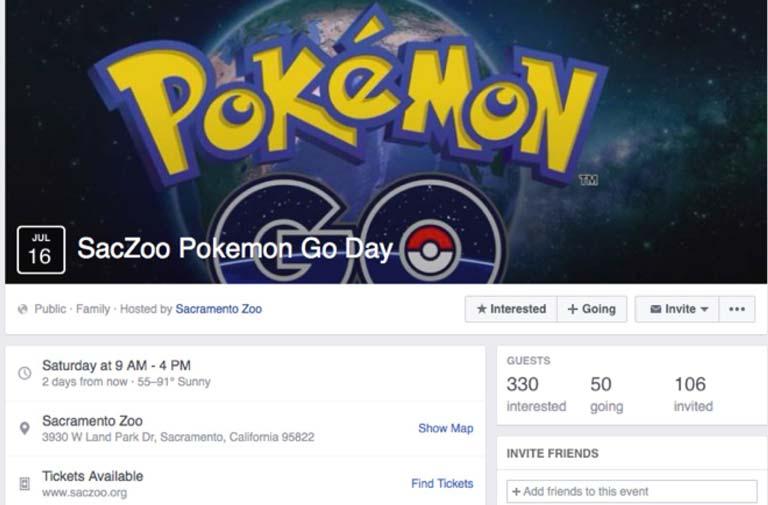 Sacramento Zoo Pokemon Event