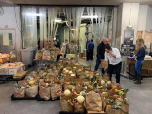the row employee food drive